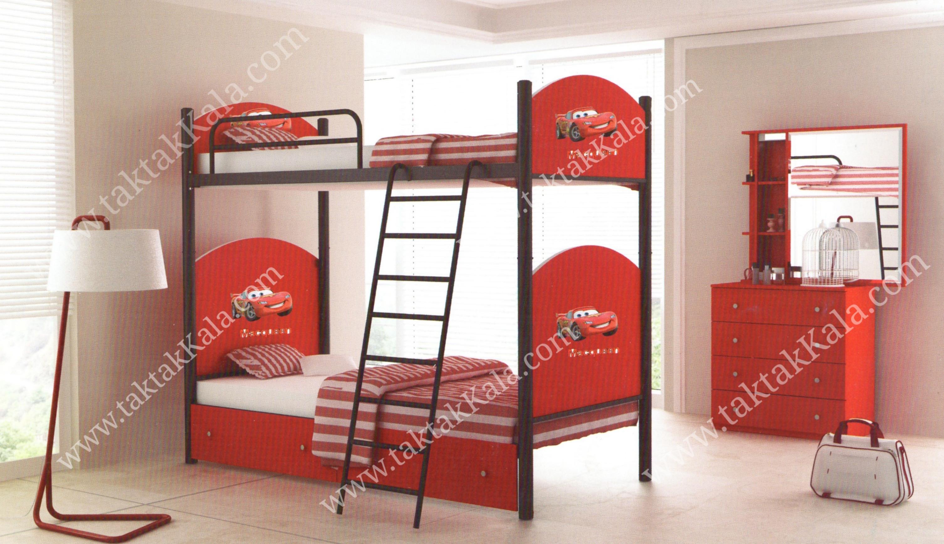 تخت خواب دو طبقه مدل عروسکی