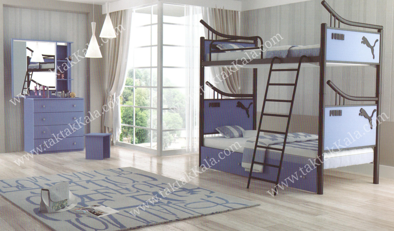 تخت خواب دو طبقه مدل پرنیا