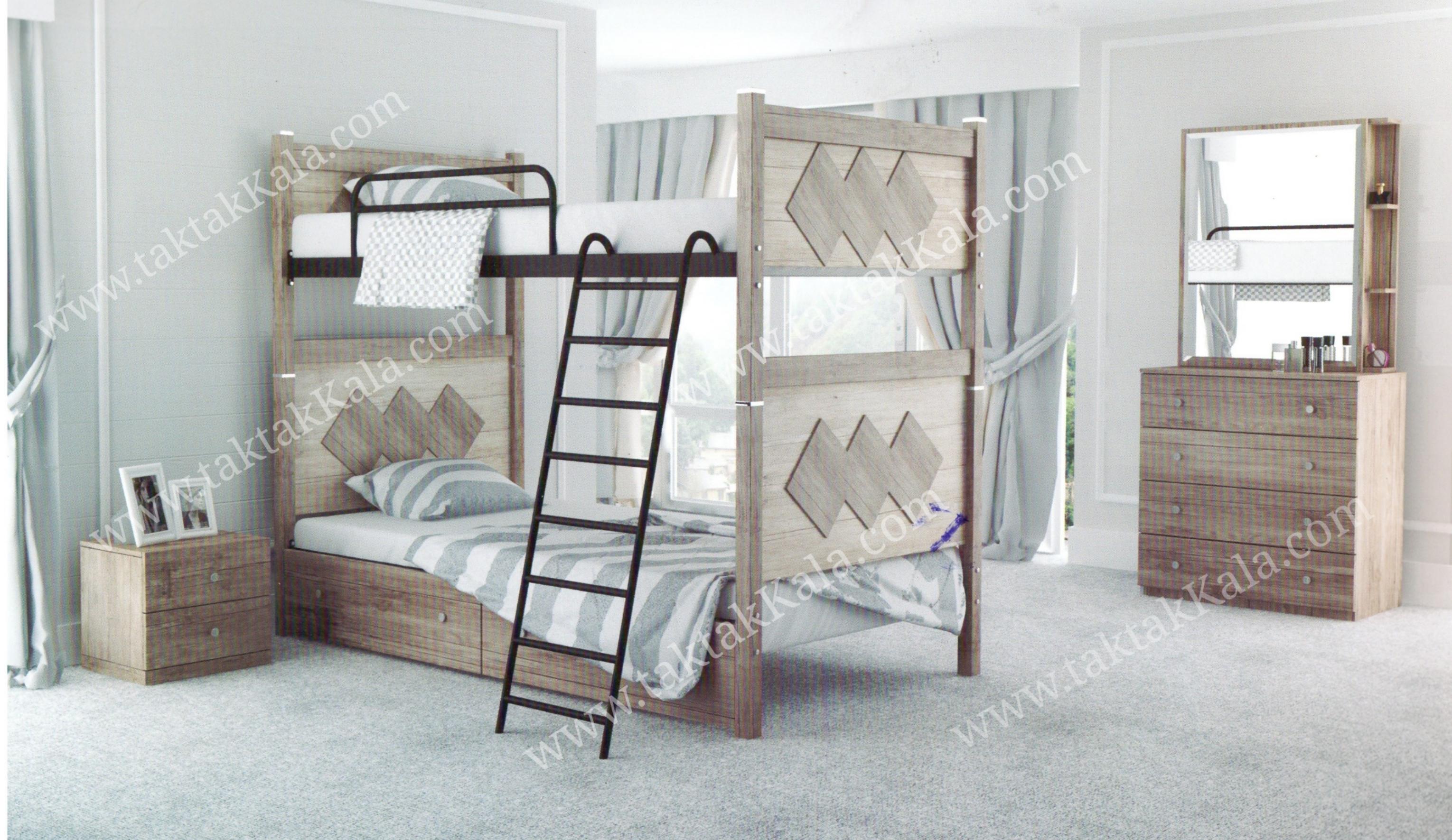 تخت خواب دو طبقه مدل ارغوان