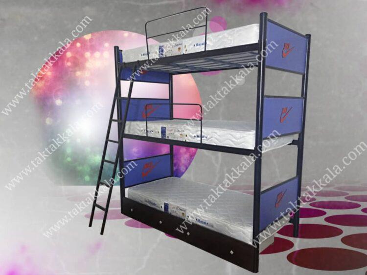 تخت خواب سه طبقه مدل اسپورت
