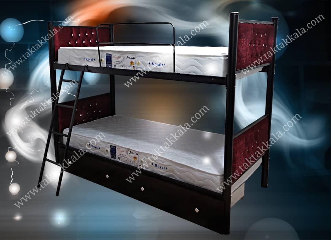 تخت خواب دو طبقه مدل لمسه