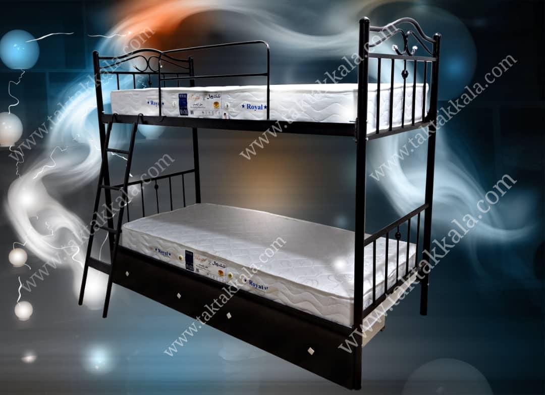 تخت خواب دو طبقه مدل عروس