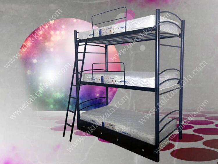 تخت خواب سه طبقه مدل شادی