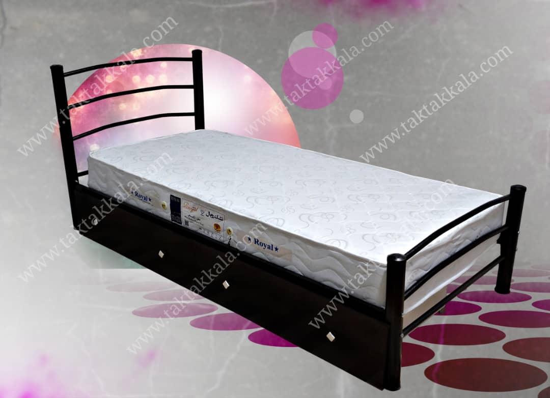تخت خواب تک نفره مدل شادی