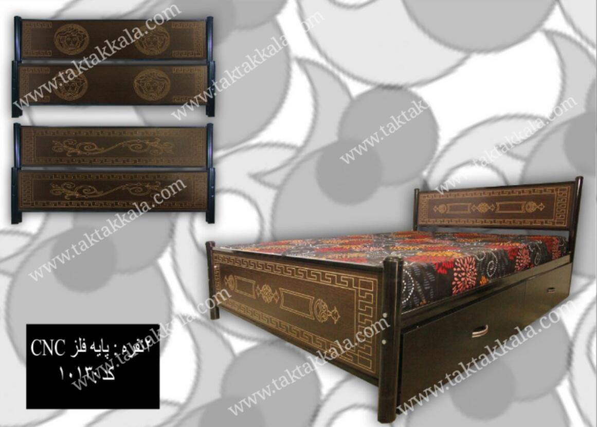 تخت خواب مدل سی ان سی پایه فلز